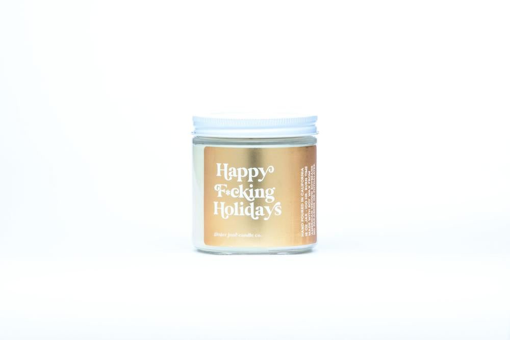 Happy F*cking Holidays Candle by Ginger June Candle Co.