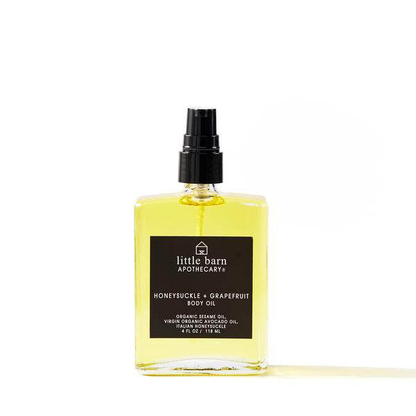 Honeysuckle + Grapefruit Body Oil by Little Barn Apothecary
