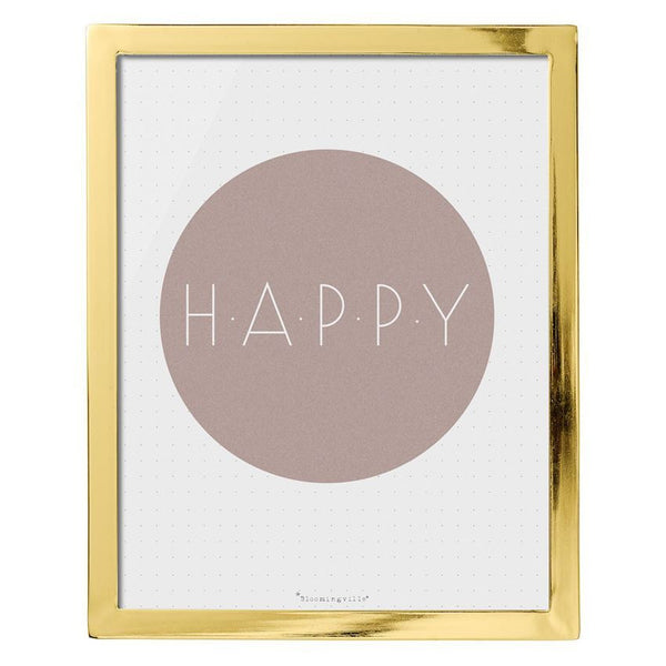 Gold Framed Happy Print