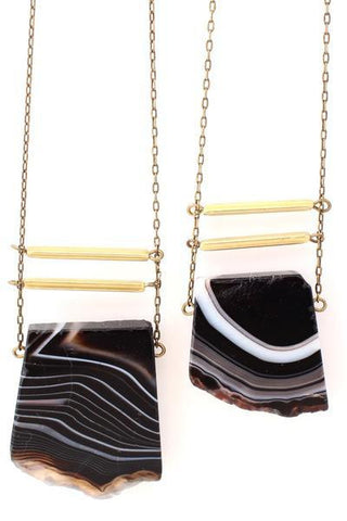 Eliza Black Agate Necklace