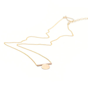 Minimal Mono Necklace by Favor Jewelry
