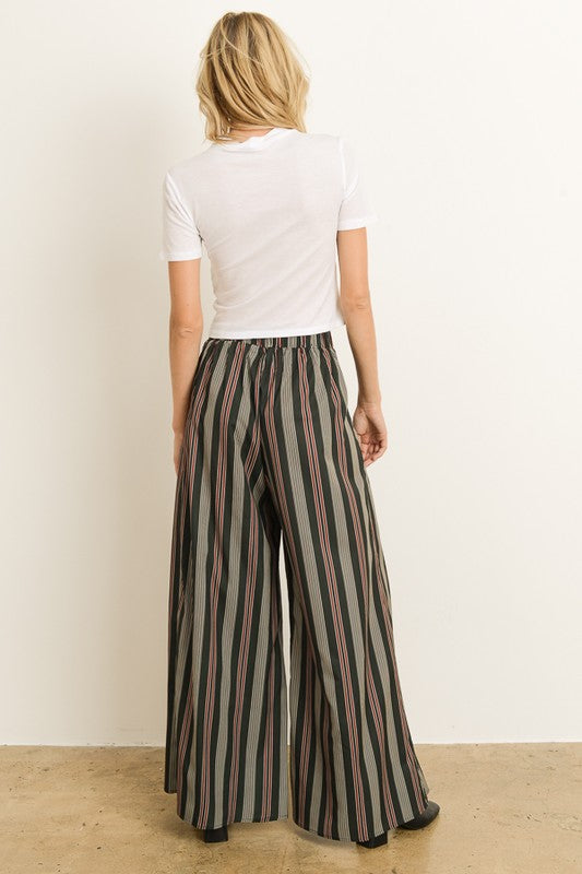 The Esther Striped Wide Leg Pants