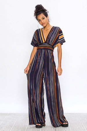 The Kimber Striped Jumpsuit