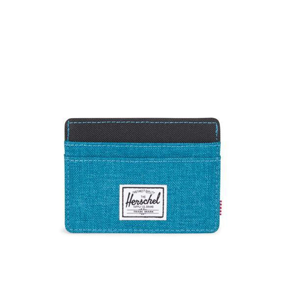 Charlie Petrol Crosshatch Wallet by Herschel Supply Co.