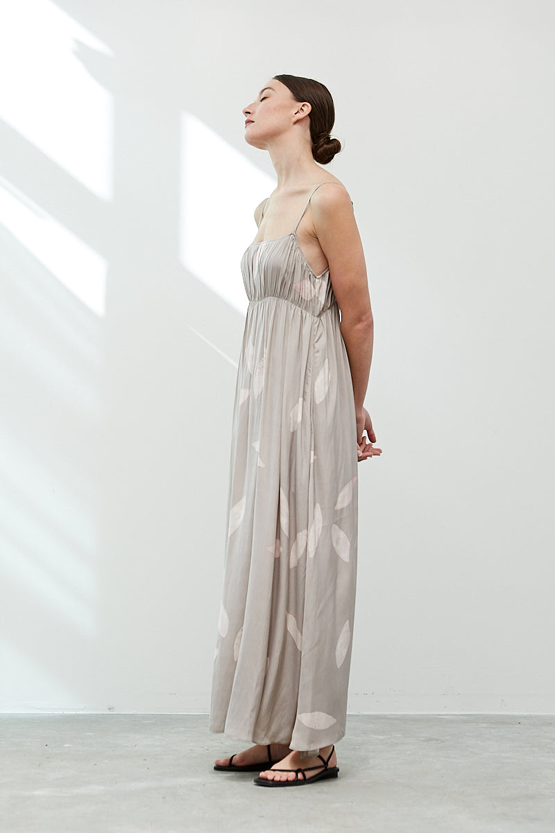 The Ichika Petal Satin Maxi Dress