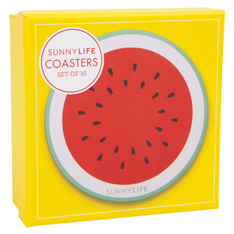 Pineapple and Watermelon Coasters - Set of 16