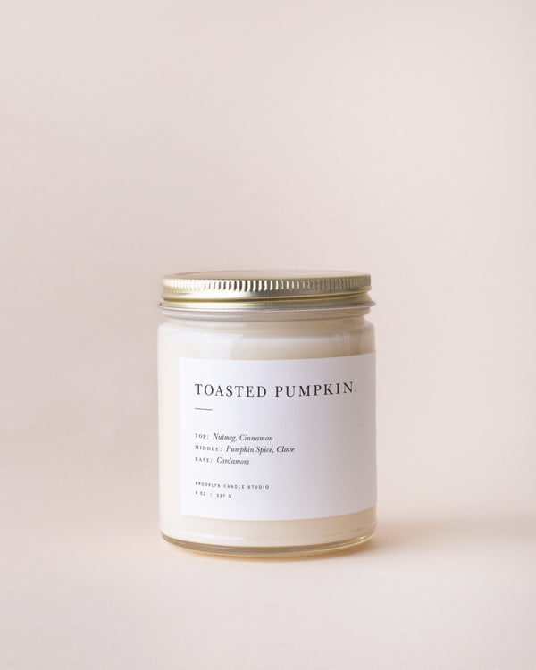 The Toasted Pumpkin Minimalist Candle by Brooklyn Candle Studio
