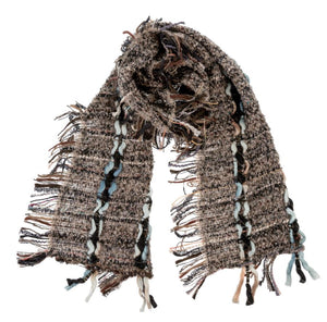The Heirloom Woven Grey & Brown Scarf