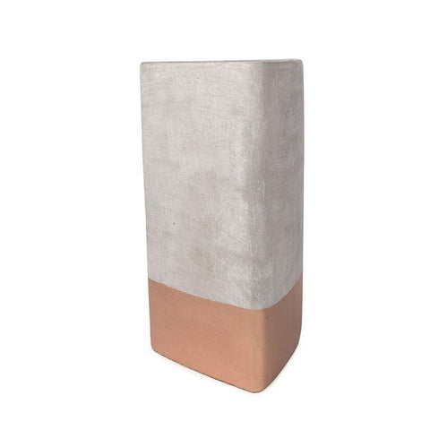 Concrete Triangle Bergamot and Mahogany Candle by Paddywax