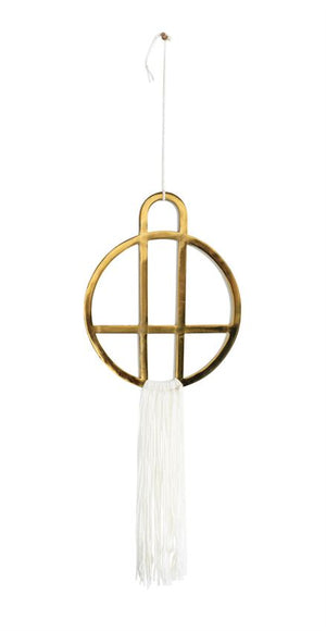 Long Metal with Fringe Wall Hanging