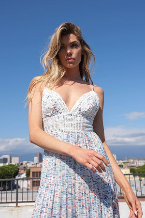Colleen Striped Tie Front Crop Top