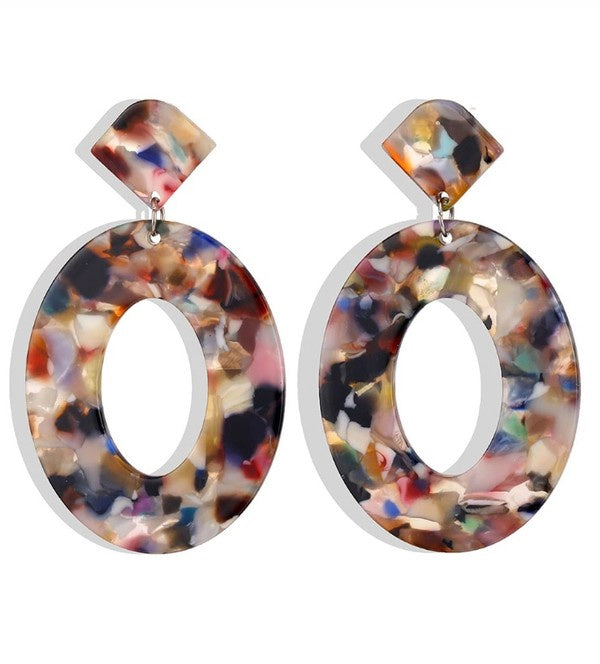 The Luana Acrylic Resin Oval Earrings