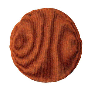 Round Rust Throw Pillow