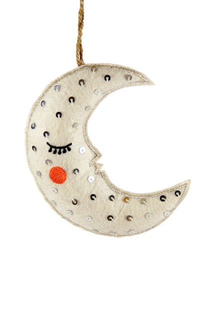 The Hushed Night Moon Ornament