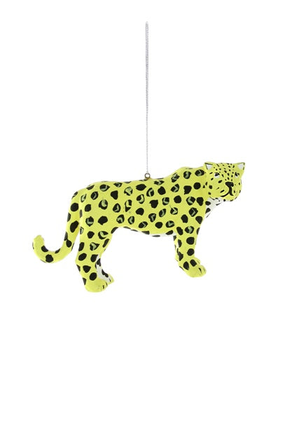 Standing Leopard Ornament