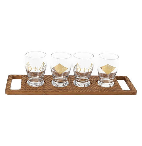 Glass And Bamboo Tasting Flight Set