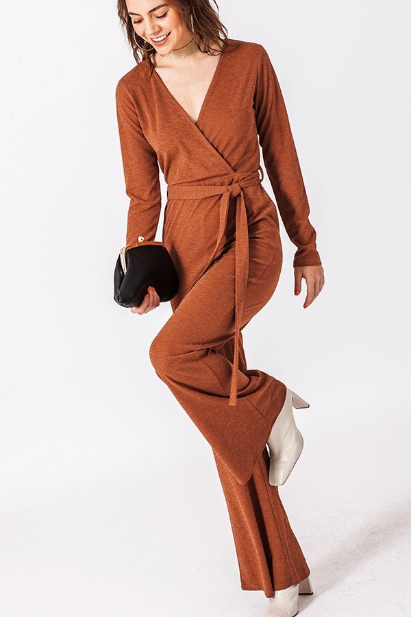 The Cathy Shimmer Bell Bottom Jumpsuit