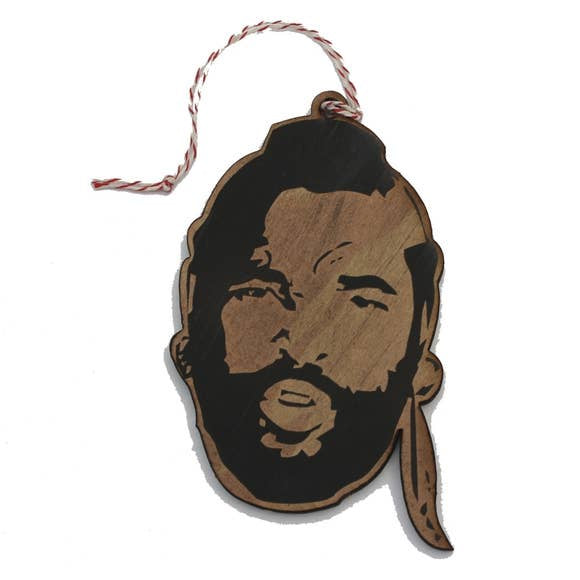 Mr. T Wooden Ornament