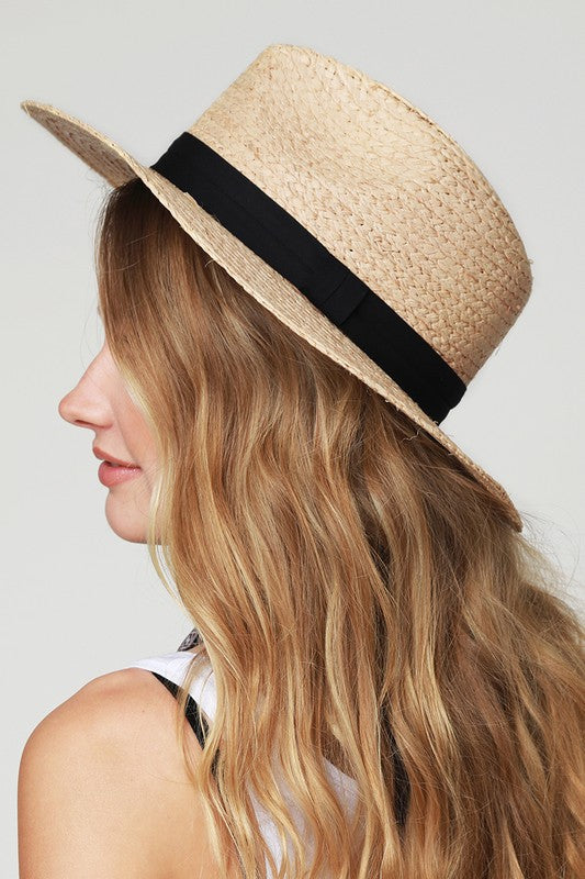 The Shannon Banded Panama Straw Hat