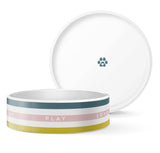 Eat Play Love Dog Dish - Pink