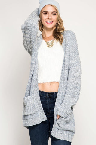Alexa Oversized Comfy Cloud Blue Cardigan