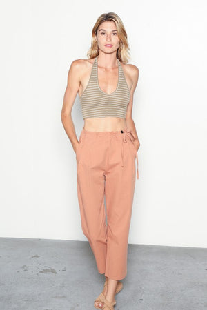 The Valerie Ruffle Trim Pants