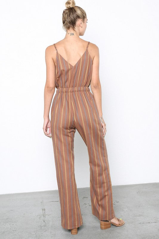 The Callie Clay Striped Jumpsuit