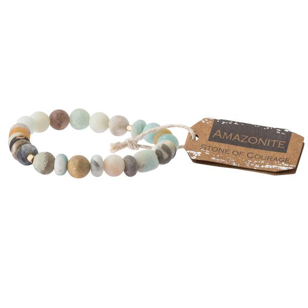 Courage Amazonite Stacking Bracelet