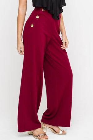 The Leandra Button Detail Pants