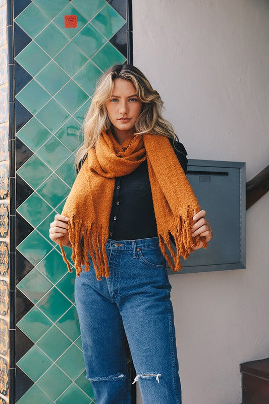 The Amelia Mohair Blanket Scarf