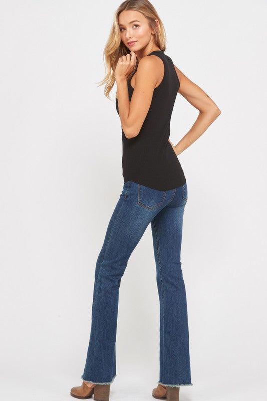 The Ariana Basic Fitted Rib Top