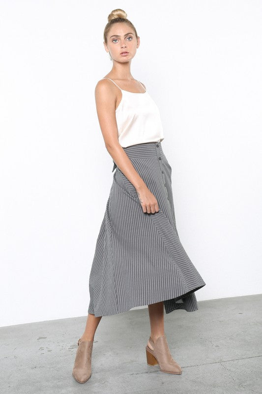 The Nadine Pinstripe Skirt