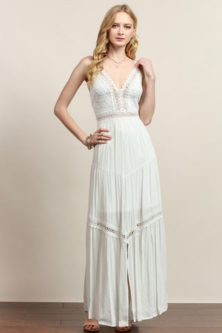 Carrie Lacey Crossback Maxi Dress