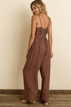The Willow Moroccan Print Cami Jumpsuit