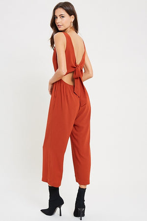 The Pippa Open Back Front Tie Jumpsuit