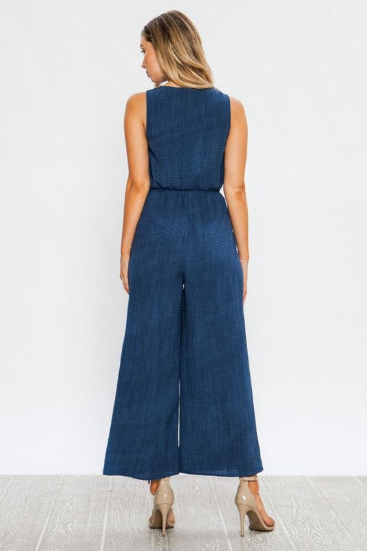 The Darla Tie Waist Wide Leg Jumpsuit