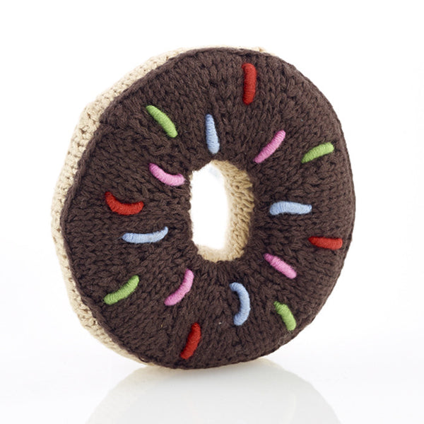 Chocolate Sprinkles Donut Rattle