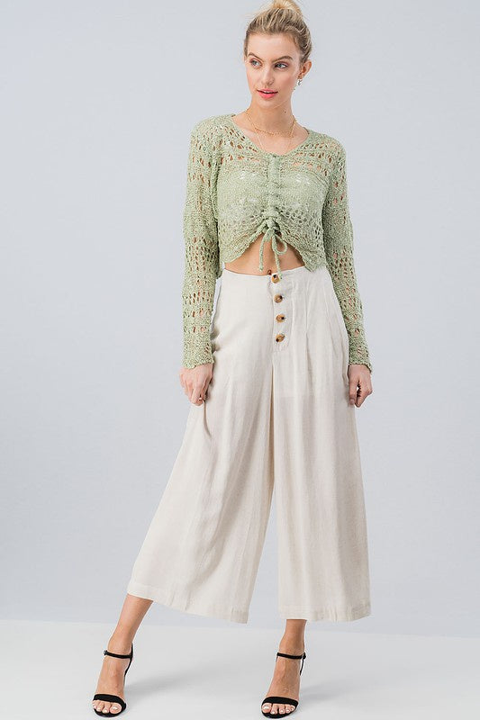 The Remy Button Down Wide Leg Pants