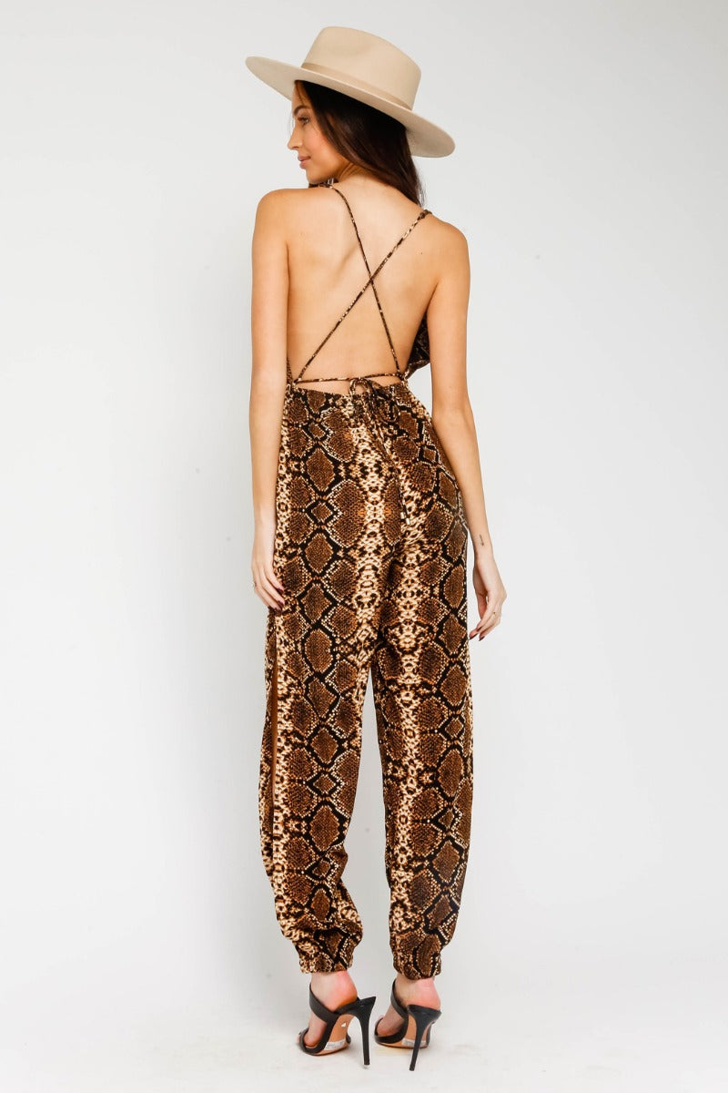 The Leanne Snakeskin Jumpsuit