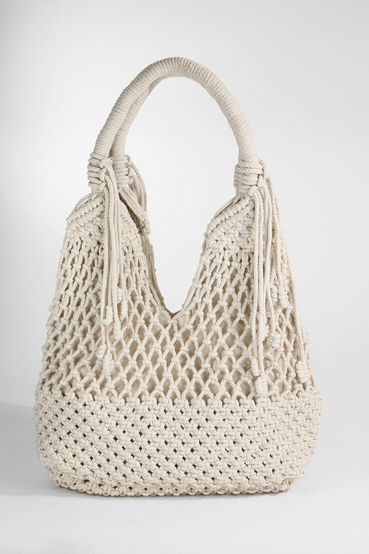 The Sylvie Macrame Shoulder Bag