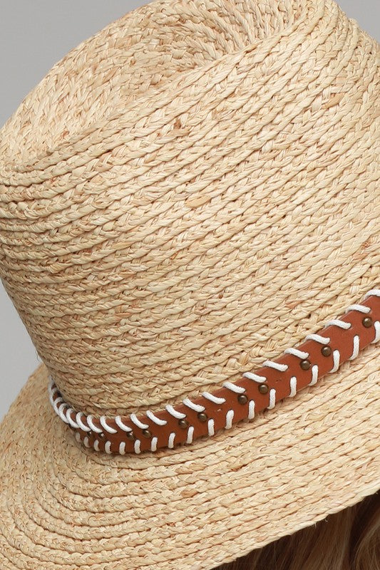 The Ami Leather Band Panama Hat
