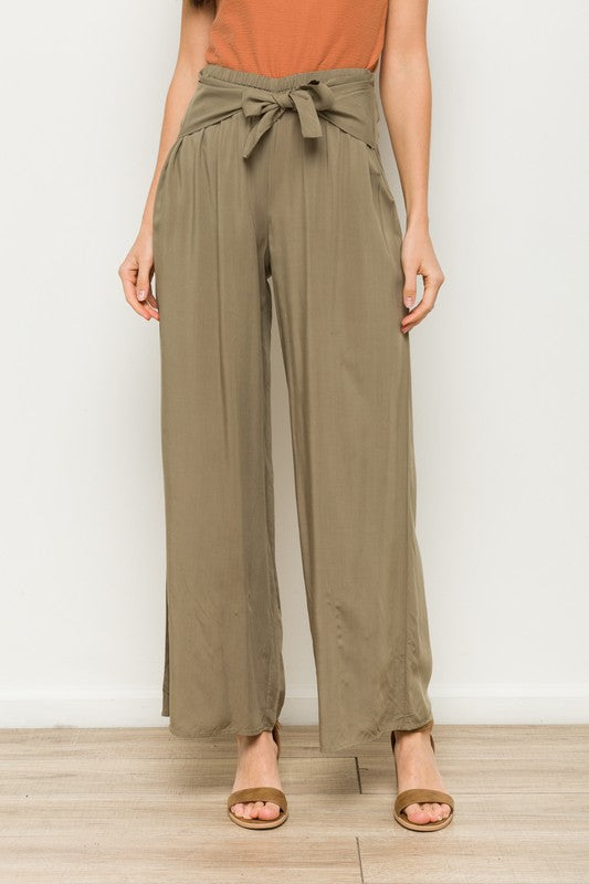 The Jamie High Waist Tie Front Pants