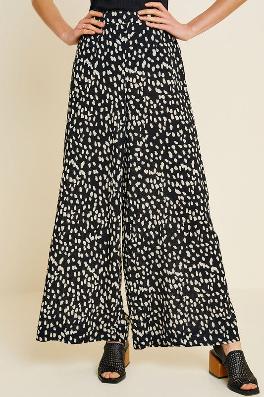 The Amani Dotted Wide-Leg Pants