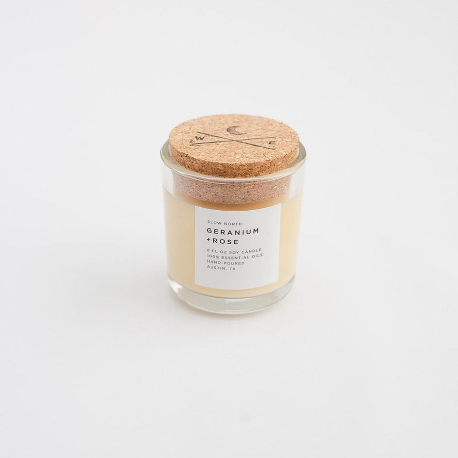 Geranium + Rose Candle by Slow North