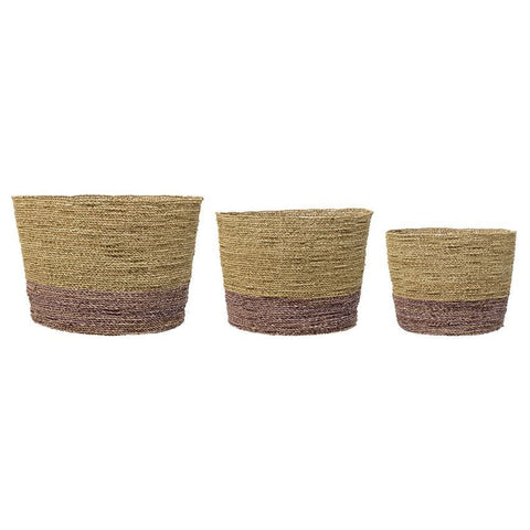 Two Tone Seagrass Basket