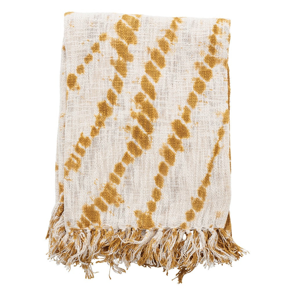 Mustard Tie Dye Throw