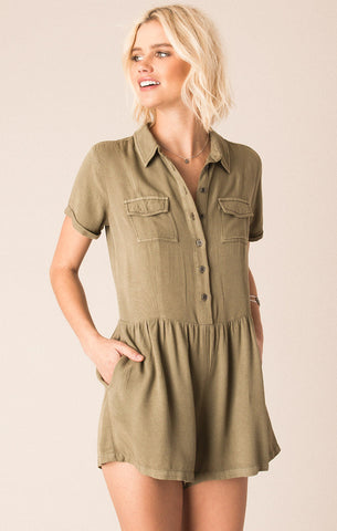 Woodcrest Dusky Green Romper