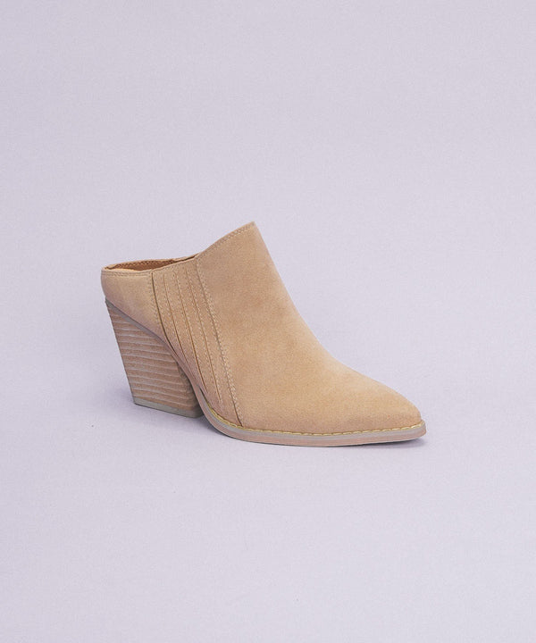 The Megan Stacked Heel Mule
