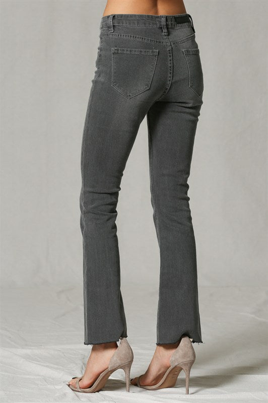 The Kora Washed Bootcut Ankle Jeans