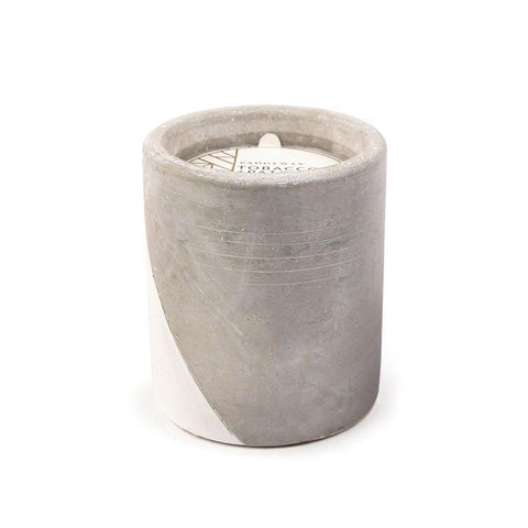 Concrete Pot Tobacco and Patchouli Candle by Paddywax